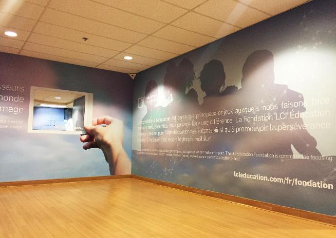 Mur du Collège LaSalle à l'effigie de la Fondation LCI Éducation